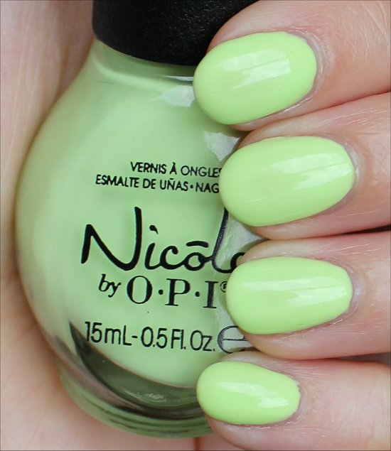 Nicole by OPI Lay It On the Lime Swatches & Review