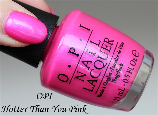 OPI Hotter Than You Pink Neons Collection Swatches