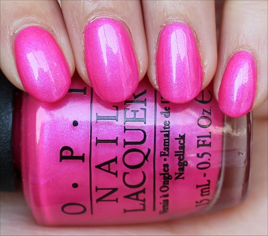OPI Hotter Than You Pink Swatch