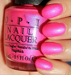 OPI Hotter Than You Pink Swatches & Review