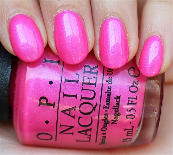 OPI Hotter Than You Pink Swatches