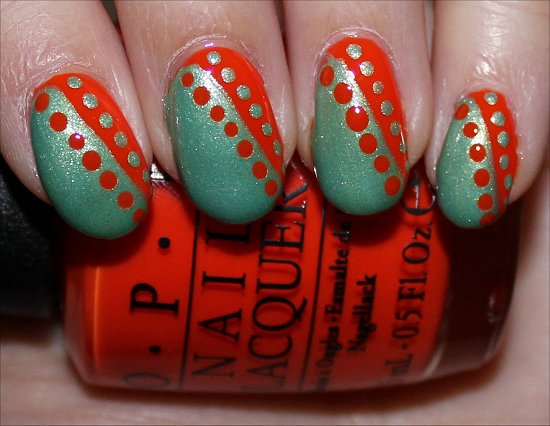 OPI Juice Bar Hopping Nail Art