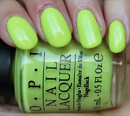 OPI Life Gave Me Lemons Swatch & Review