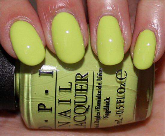 OPI Neons Collection Life Gave Me Lemons Swatch