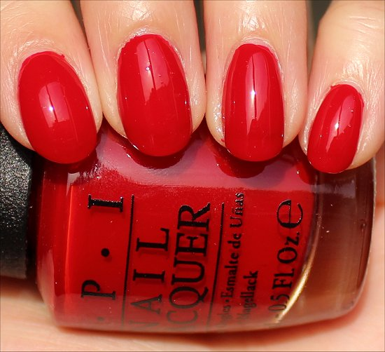 OPI Red Hot Rio Swatch Brazil Swatches