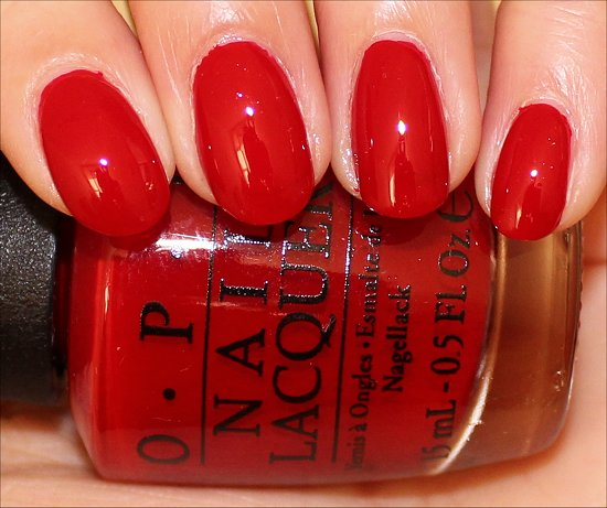 OPI Red Hot Rio Swatch & Pictures
