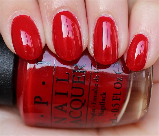 OPI Red Hot Rio Swatch & Review