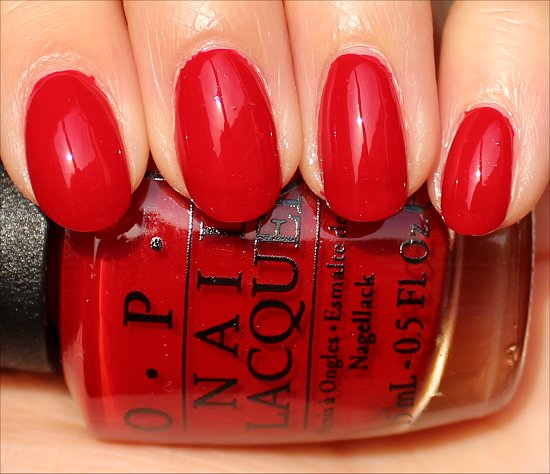 Red Hot Rio OPI Brazil Swatches