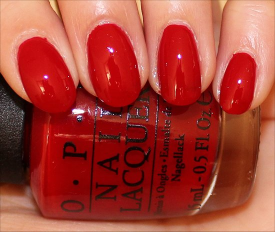 Red Hot Rio OPI Swatches