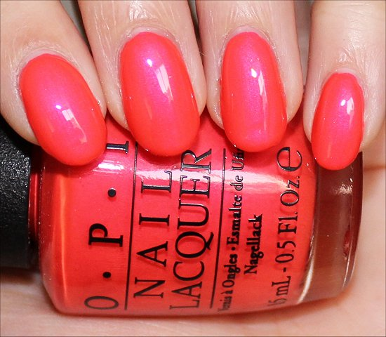 OPI Down to the Core-al Swatch Neon Collection 2014 Swatches