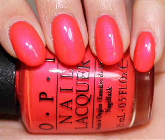 OPI Down to the Core-al Swatch Neon Collection Swatches