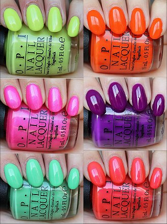 OPI Neon Collection Swatches