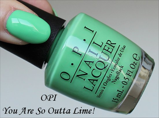 OPI You Are So Outta Lime Neon Collection