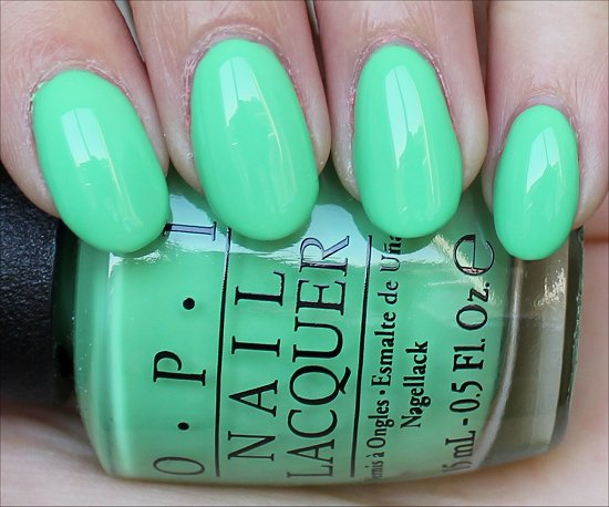 OPI You Are So Outta Lime Swatch OPI Neon Swatches