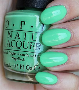 OPI You Are So Outta Lime Swatches & Review