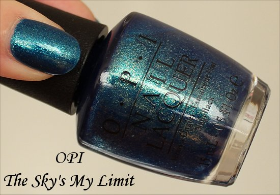 The Sky's My Limit OPI Swatches Ford Mustang Collection