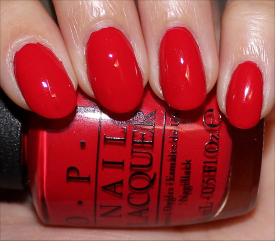 Coca-Cola Red OPI Swatches & Photos