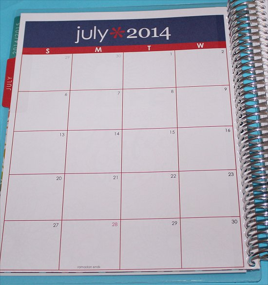 Erin Condren Life Planner Monthly View