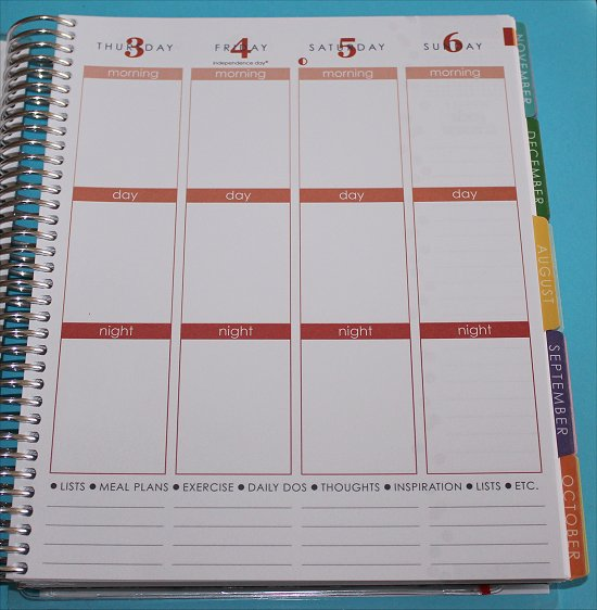 Erin Condren Life Planner Weekly View 3