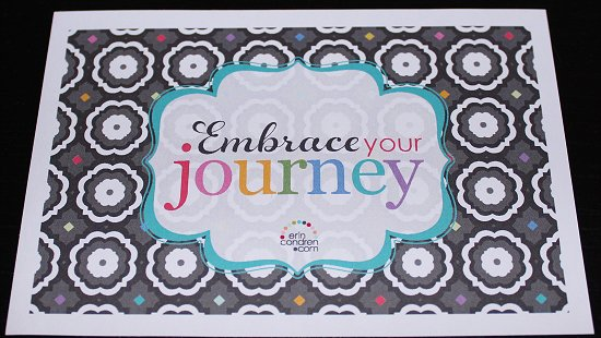Erin Condren Stickers Embrace Your Journey