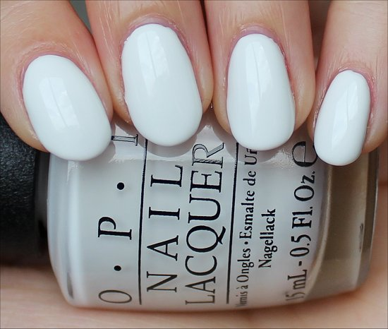 OPI Angel with a Leadfoot Swatches