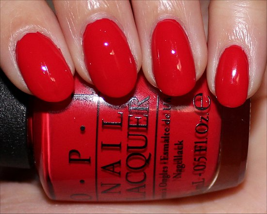 OPI Coca-Cola Red Swatch & Pictures