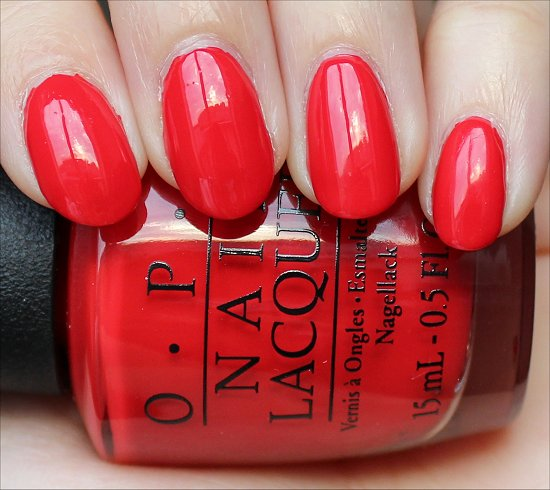 OPI Coca-Cola Red Swatch & Review