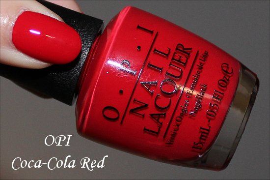 OPI Coca Cola Red Swatches Coca Cola Collection
