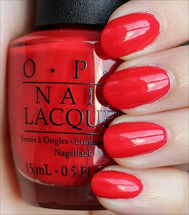 OPI Coca-Cola Red Swatches & Review
