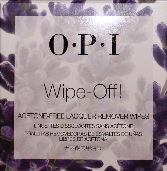 OPI Wipe-Off Acetone-Free Lacquer Remover Wipes Review