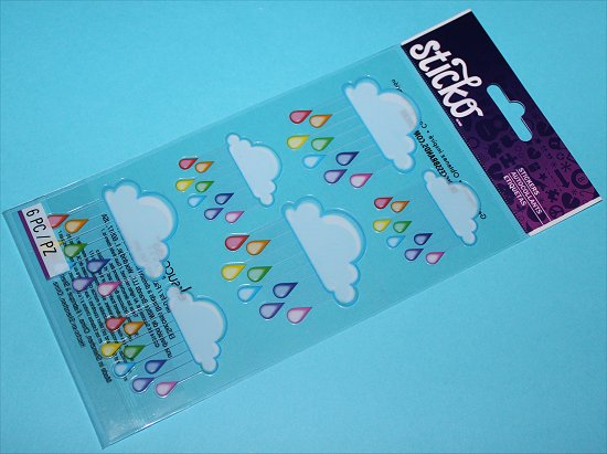 Sticko Clouds & Rain Stickers