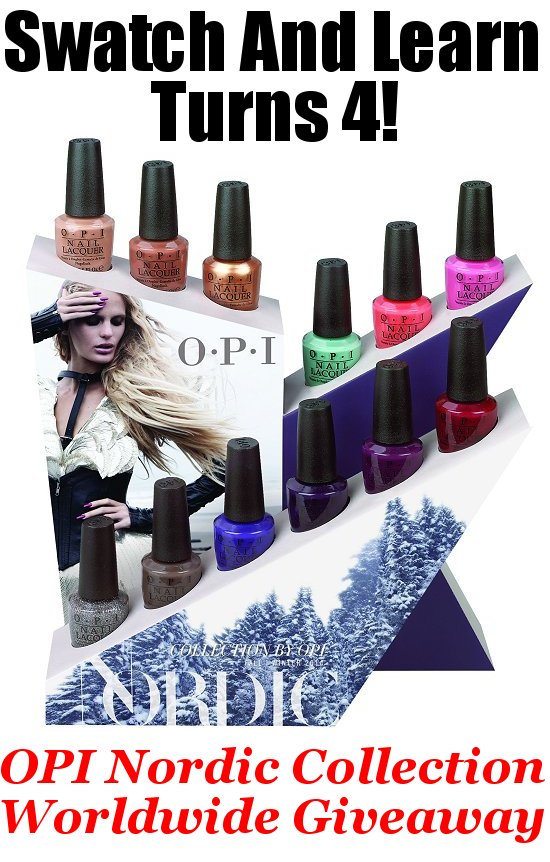 Win the OPI Nordic Collection SwatchAndLearn Giveaway