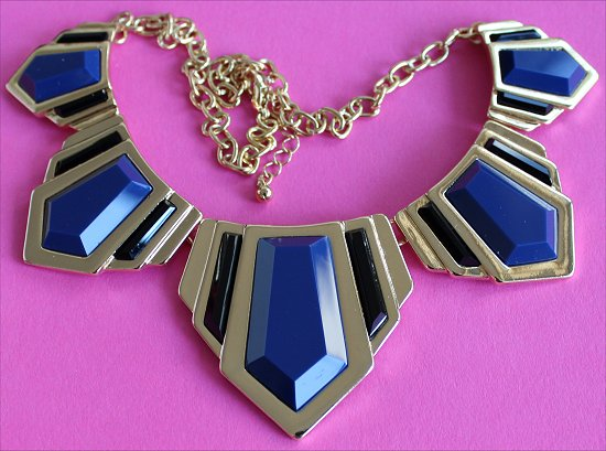 Forever 21 Faux Stone Dagger Bib Necklace Statement Necklaces