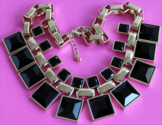 Forever 21 Box Chain Bib Necklace Statement Necklaces