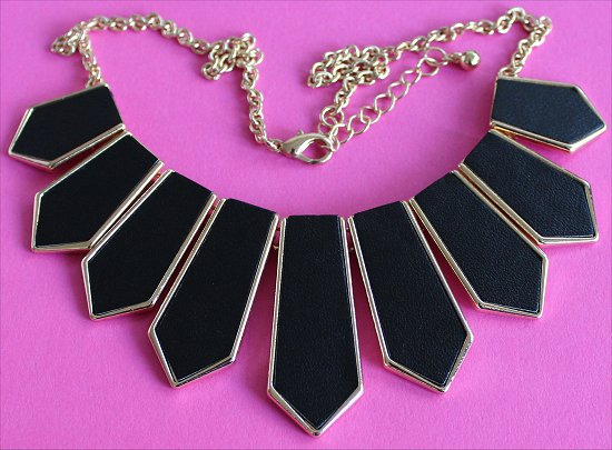 Forever 21 Matte Faux Leather Necklace Statement Necklaces
