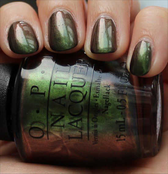 Green on the Runway OPI Coca-Cola Collection Swatch
