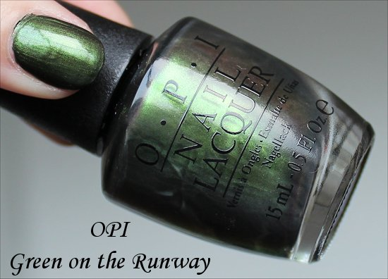 Green on the Runway by OPI Coca Cola Collection Swatches