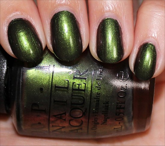OPI Green on the Runway Review & Swatches