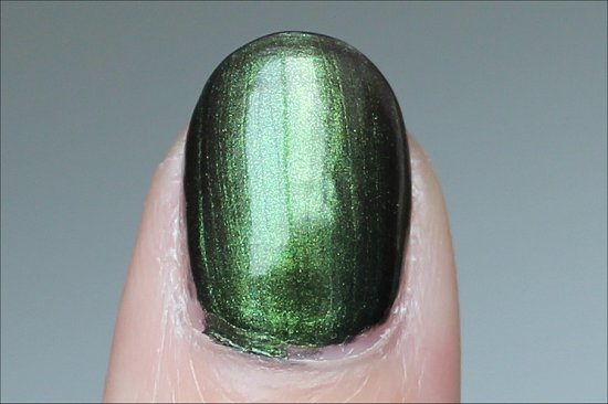 OPI Green on the Runway Swatch Coca Cola Collection Swatches