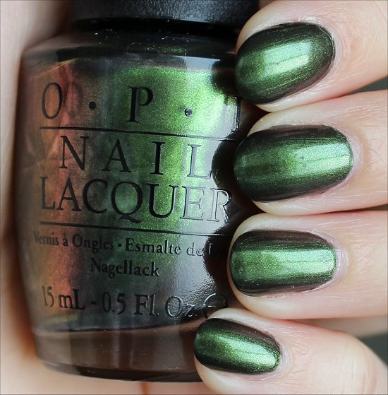 OPI Green on the Runway Swatches & Review