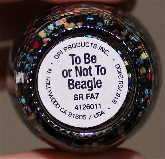 OPI To Be Or Not To Beagle OPI Peanuts