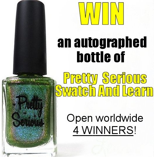 Pretty Serious Swatch And Learn Giveaway