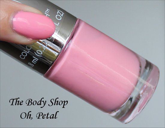 The Body Shop Colour Crush Oh, Petal Swatches