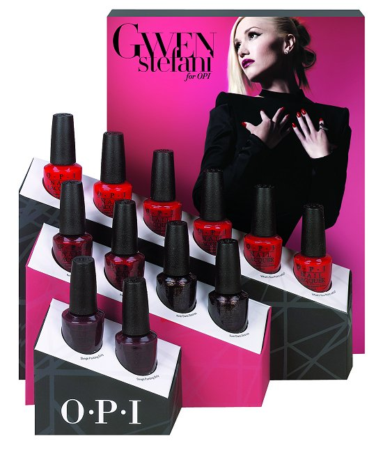 OPI Gwen Stefani Holiday Collection 2014 Reds Display