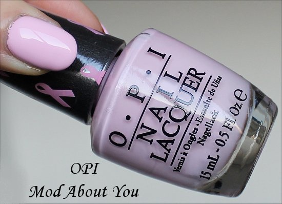 OPI Mod About You Swatch Breast Cancer Awareness 2014
