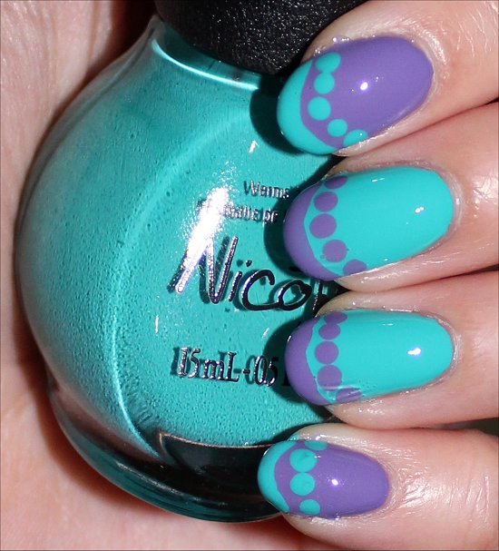 Funky French Nail Art Tutorial SwatchAndLearn PromCanada