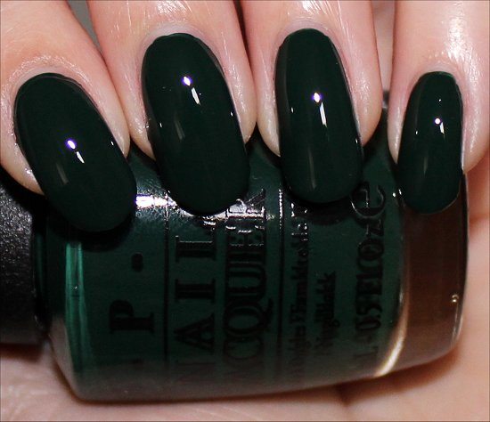 OPI Christmas Gone Plaid Swatch OPI Gwen Stefani Holiday Swatches