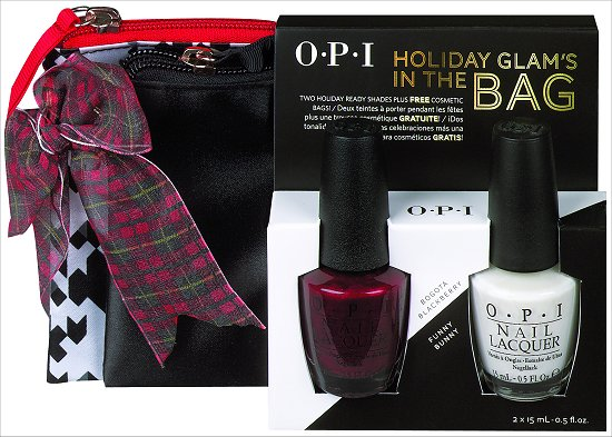 OPI Holiday Glam's in the Bag Bogota Blackberry & Funny Bunny