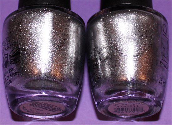 OPI My Signature Is DC Unfrost My Heart Comparison Swatches