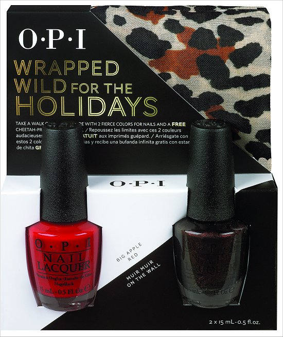 OPI Wrapped Wild for the Holidays Big Apple Red and Muir Muir on the Wall